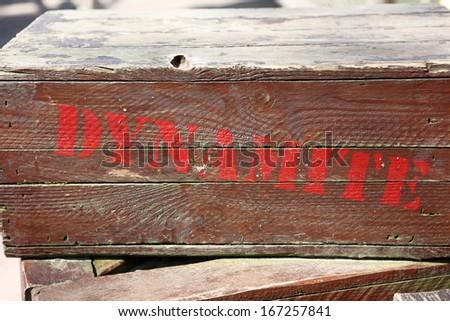 dynamite on a box - stock photo