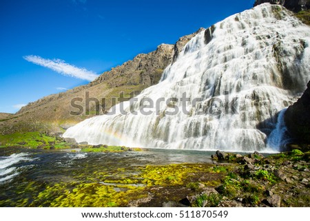 Dynjandi waterfall, West Fjords Iceland.