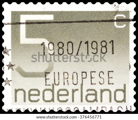 DZERZHINSK, RUSSIA - FEBRUARY 04, 2016: A postage stamp of NETHERLANDS shows Postage Stamp par 5 cents, circa 1980 - stock photo