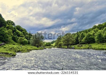 Dzoraget river gorge - stock photo