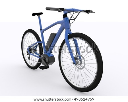 E-Bike isolated 3d rendering