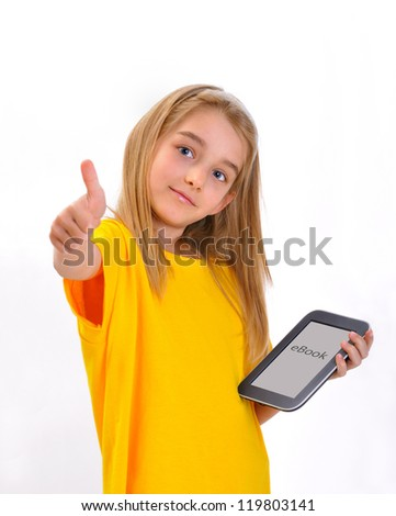 e-book - stock photo