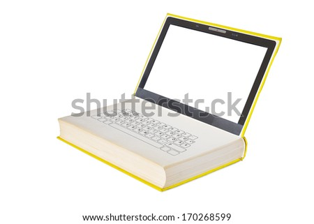 e-book and e-learning concept, free copy space - stock photo