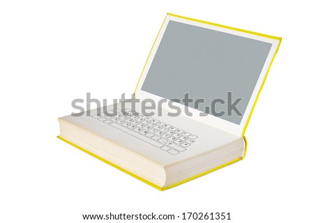 E-book and modern information technology concept, free copy space - stock photo