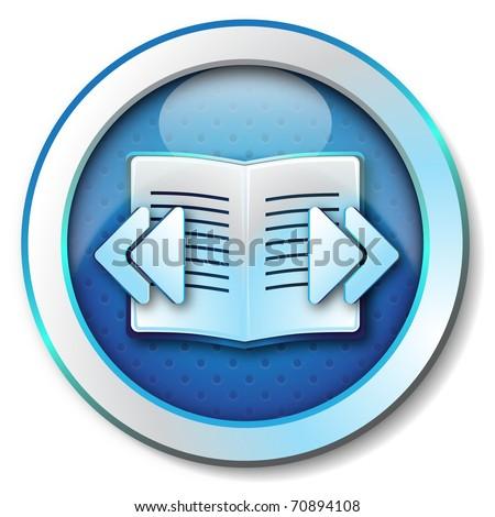 E-book browse icon - stock photo