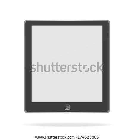 E book on white background. Raster version - stock photo