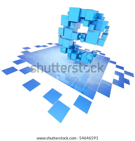 E-business concept. Hi-res digitally generated image. - stock photo