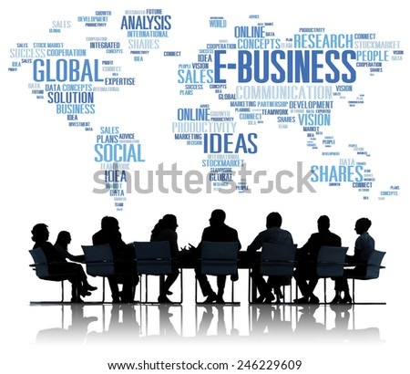 E-Business Global Business Commerce Online World Concept - stock photo