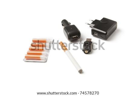 E-cigarette kit - stock photo