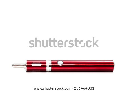 E-Cigarettes (Electronic cigarettes) red isolated on white background
