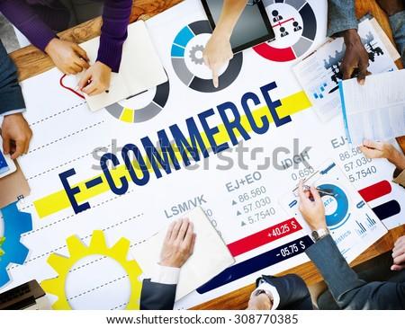 E-commerce Commercial Purchasing Digital Internet Concept - stock photo