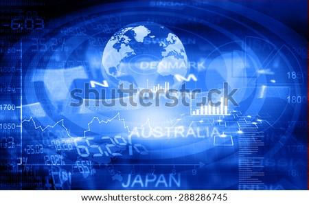E -commerce, Financial background  - stock photo