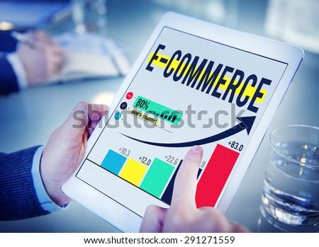 E-commerce Internet Global Marketing Purchasing Concept - stock photo