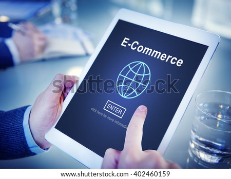 E-Commerce Marketing Online Technology World Concept - stock photo