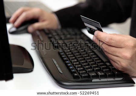 E-commerce Payment by Credit Card - stock photo