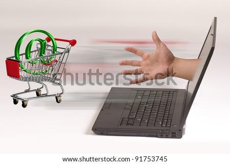 E-Commerce Shopping. - stock photo