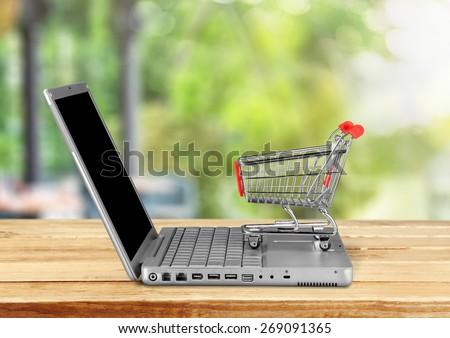 E-commerce, Shopping, Internet. - stock photo