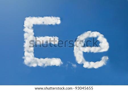 E font clouds - stock photo