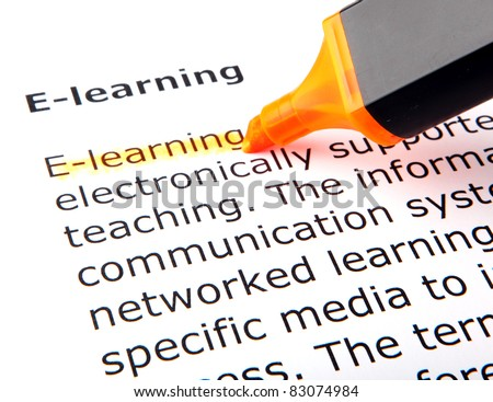 E-learning - stock photo