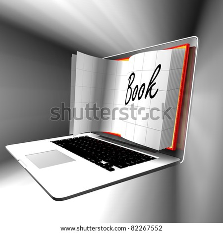 E-Learning:Computer or internet transfer of skills and knowledge - stock photo