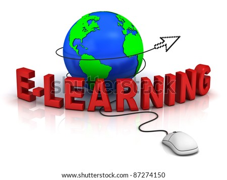 E-learning concept - stock photo