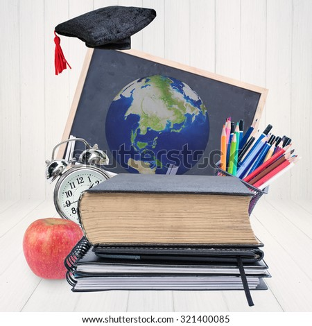E-learning, education online concept.Elements of this image are furnished by NASA - stock photo