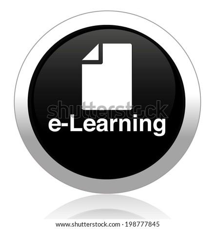 e-learning icon - stock photo