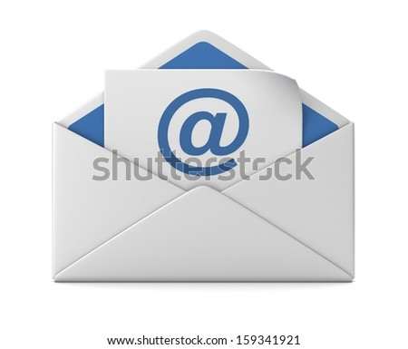 E mail and envelope - stock photo