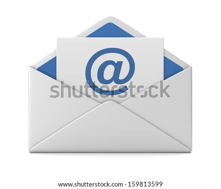 E mail and envelope