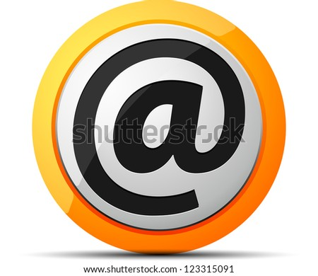 E-mail button - stock photo