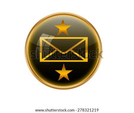 E-mail button. - stock photo
