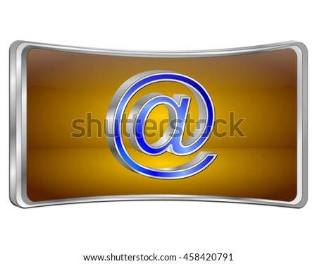 E-Mail Button - 3D illustration - stock photo