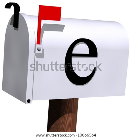 E-mail concept isolated on white - stock photo