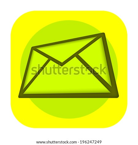 E mail envelope icon - stock photo