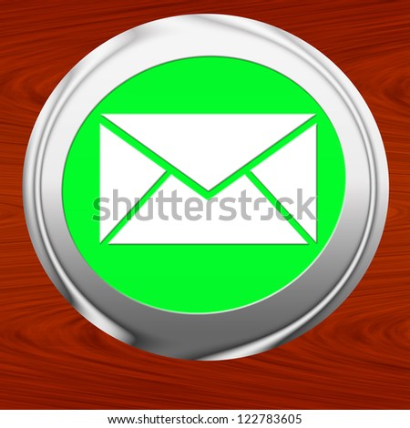 e-mail icon - stock photo