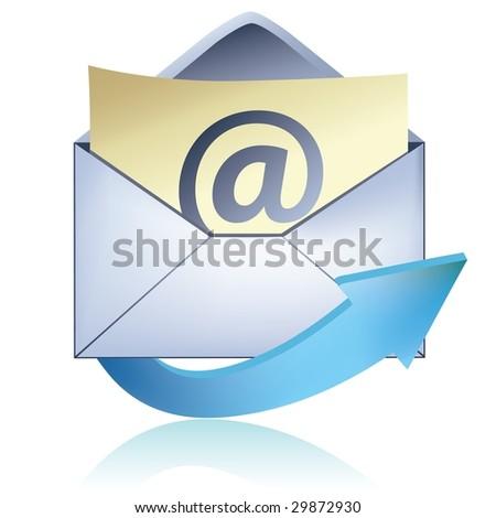 E-mail icon - stock photo