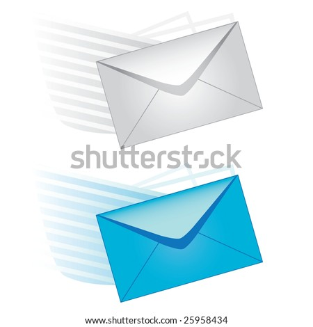 e-mail icons - stock photo