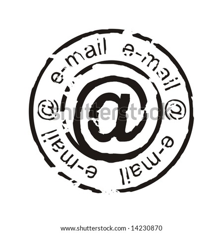 e-mail stamp - stock photo