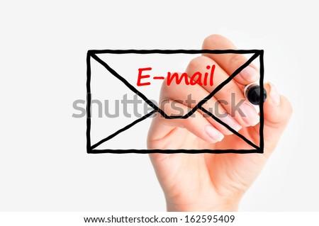 E-mail us concept - stock photo