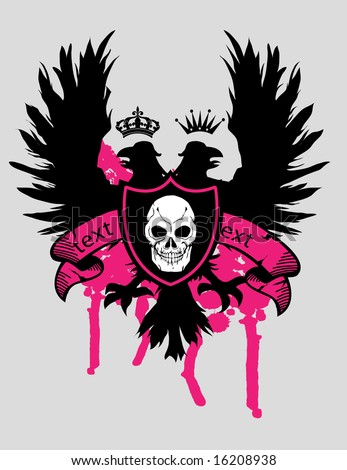 eagle and heraldic design for shirt - stock photo