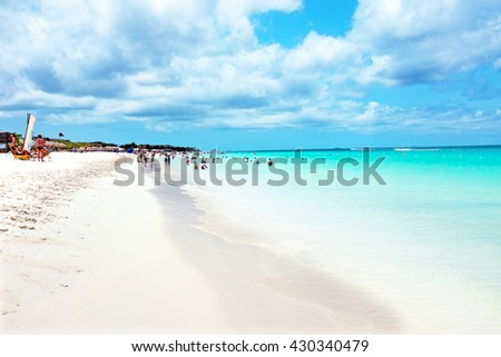 Eagle beach on Aruba island in the Caribbean Sea