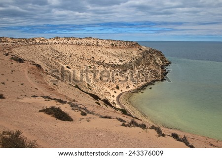 Eagle Bluff, Shark Bay, Western Australia - stock photo