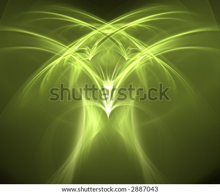 Eagle - fractal generated on a black background - stock photo