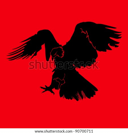 Eagle Logo Red Eagle Silhouette on Red
