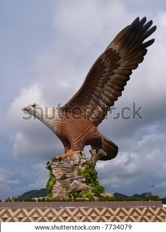 Eagle Square in Langkawi Island, Malaysia - stock photo