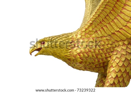 Eagle statue on a white background. - stock photo