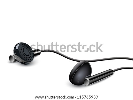 Earbuds isolated on the white background