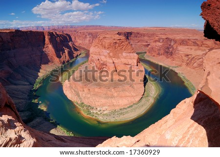 Early  Afternoon at Horseshoe Bend in Page, Arizona