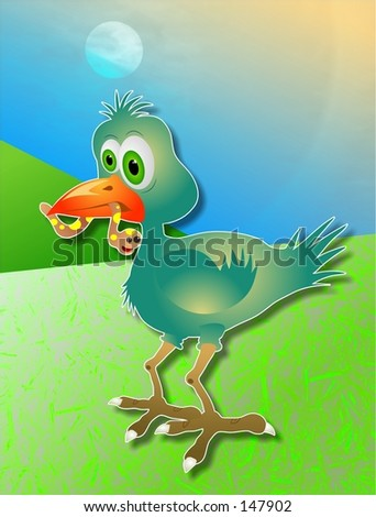 Early bird - stock photo