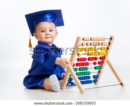 early learning baby - stock photo